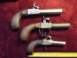 Lot De 3 Pistolets à Balle Forçée - Armes Neutralisées