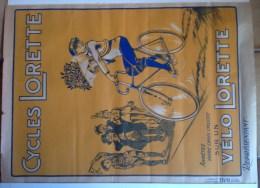 AFFICHE ancienne Wall - VELO Lorette, Champion Cycliste,  - Dim 80 x 60 cm -Pub Wall