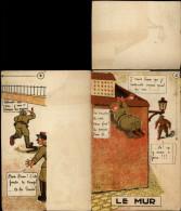 CARTE A SYSTEME - MILITARIA - Soldat - Caserne - Le Mur - Faire Le Mur - Cartoline Con Meccanismi