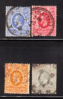 East Africa & Uganda Protectorates 1921 KG V 4v Used - Protectorados De África Oriental Y Uganda