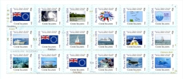 ci140601 Cook Is. 2014 Pacific SIDS Letter Rate 18v Ship Fish Shark Flag