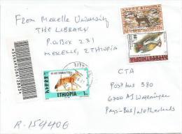Ethiopia 2000 Makalie Simien Fox Woodpecker Barcoded Registered Cover - Ethiopië