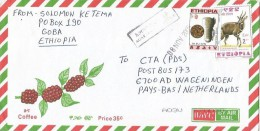 Ethiopia 2005 Agarffa Postal Agency Beehive Bee Honey Bushbuck Antilope Cover - Ethiopië