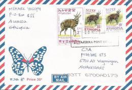 Ethiopia 2005 Butajirra Postal Agency Bushbuck Antilope Cover - Ethiopië
