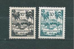 Colonie Taxe De Guadeloupe De 1947   N°41/42  Neufs - Segnatasse