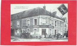 CONDE SUR HUISNE HOTEL GEORGET HERMELINE PUBLICITE CREDIT AGRICOLE CARTE MODERNE EN TRES BON ETAT - Autres Communes