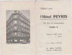 R :    Paris;  Plan  Metro  , Offert Par  L Hotel  PEYRIS  ( Se  Habla  Espanol - Fala-se  Portuguès ) - Europe