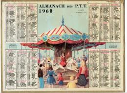 CALENDRIER GF 1960 - Le Manège (dessinateur Inconnu) - Imprimerie Oller - Calendriers