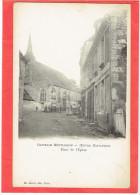 LA CHAPELLE MONTLIGEON 1900 PLACE DE L EGLISE CARTE PRECURSEUR EN TRES BON ETAT - Sonstige Gemeinden