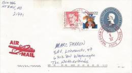 USA 2000 Neddham Heights President Lincoln 3c Postal Stationary Cover - Postwaardestukken
