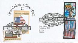 USA 2006 Washington DC Family Day Tree Aspen Pine Forest World Philatelic Exhebition Cover - Omslagen Van Evenementen