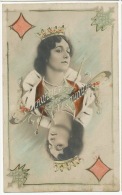 Surrealisme Carte A Jouer Cavalieri Dame De Carreau - Artistas