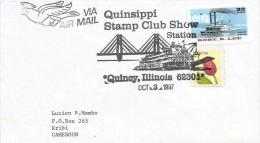 USA 1997 Quincy Peddle Boat Ship Bridge Cover - Eerste Uitgaves (FDC)