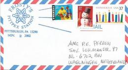 USA 2002 Pittsburgh Frosty´s Pittpex Station Ice Cristal Snowman Cover - Evenementen & Herdenkingen