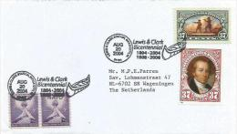 USA 2004 Sioux City Lewis & Clark Bicentennial Canoe President Clark Cover - Eerste Uitgaves (FDC)