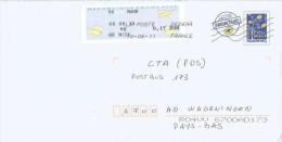 France 2011 Mane Meter Franking EMA PAP Postal Stationary Cover - PAP:  Varia (1995-...)