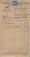 Facture Lettre  -  Compagnie électricité Du Centre - Bourges (Cher) - 1900 – 1949