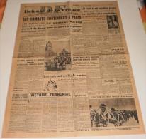 Défense De La France Du 23 Août 1944. (Les Combats Continuent à Paris) - Revues & Journaux