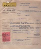 Facture (1948) - Consessionnaire BERGER - Riguet - LE MOULON  - BOURGES (Cher) - 1900 – 1949