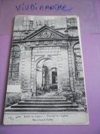 80 - HAM  - PORTAIL DE L'EGLISE - 3100 - CPA VIERGE - Ham