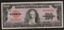 CUBA 100 PESOS 1954  SERIE B...A   AUNC   F. Aguilera - Cuba