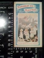 CALENDRIER CHROMO PUBLICITAIRE 1899 CHOCOLAT DU PLANTEUR Cie COLONIALE ENFANTS NOEL BOUSSOD MANZI GOUPIL PARIS - Petit Format : ...-1900