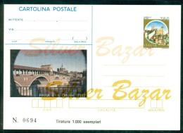INTERO POSTALE - INTERI POSTALI - CARTOLINA POSTALE - IPZS - I.P.Z.S -PAVIA-BORSE E  SALONI COLLEZIONISMO-PONTI - 6. 1946-.. Repubblica