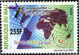 Mali 2005 Sommet Mondial Société De L´information Informationsgesellschaft IT Tunis 2005, 225 F Mnh - Mali (1959-...)