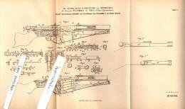 Original Patentschrift - Dr. A. Ritter Jurnitschek Von Wehrstedt Auf Schloß Puchberg B. Wels , 1901 , Gewehr , Jagd !!! - 1914-18