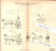 Original Patent - Joaquim Antonio De Macedo In Leeds , England , 1887 , Galloping Horse !!! - Horses