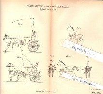 Original Patent - Joaquim Antonio De Macedo In Leeds , England , 1887 , Galloping Horse !!! - Chevaux