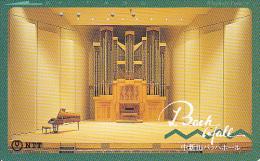 JAPAN - Musical Instruments, Piano, NTT Telecard 50 Units(410-377), 06/90, Used - Música