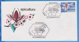 ROMANIA  Cover 1993 .Beekeeping, Bee, Abeille - Honeybees