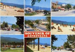 Souvenir Of Asprovalta - Vedutine - Formato Grande Viaggiata - Grecia