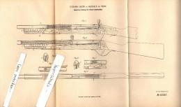 Original Patent - Johann Geyer In Hernals B. Wien , 1887 , Pepetiergewehr Für Kinder !!! - Toy Memorabilia