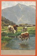 NOV362, Vaches, Serie 332, Fantaisie,  Circulée 1906 Sous Enveloppe - Koeien