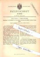 Original Patent - Carl Rilling In Obersontheim , 1887 , Doppelzange Zum Wölben Von Balken , Hausbau , Bau , Fachwerk !!! - Werkzeuge