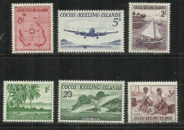 COCOS ISLAND ISLAS ISOLE 1963 DEFINITIVE COMPLETE DEFINITIVES SET PICTORIALS VIEWS LANDSCAPES VEDUTE MNH - Isole Cocos (Keeling)