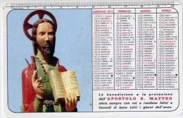 Calendarietto - Santuario Di S. Matteo - S.marco In Lamis - Anno 1971 - Calendari