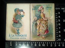 CALENDRIER CHROMO PUBLICITAIRE 1890 En 2 Parties CHICOREE A LA FRANCAISE PAUL MAIRESSE CAMBRAI - Kalenders