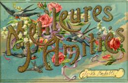 CPA - MEILLEURES AMITIES DE LA ROCHETTE  - 1912-  TTBE - Cachet De Coulgens - - Sonstige Gemeinden