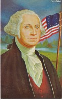 US President Washington, Morris Katz Artist Signed C1960s Vintage Postcard - Personnages