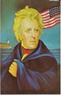 US President Andrew Jackson, Morris Katz Artist Signed C1960s Vintage Postcard - Personaggi