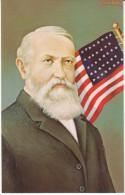 US President Benjamin Harrison, Morris Katz Artist Signed C1960s Vintage Postcard - Personaggi