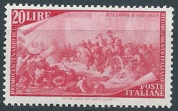 1948 ITALIA RISORGIMENTO 20 LIRE MNH ** - W1-4 - 1946-60: Mint/hinged