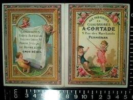 CALENDRIER CHROMO PUBLICITAIRE 1881 CHAUSSURES CORTADE 9 RUE DES MARCHANDS PERPIGNAN LITHO LAAS - Petit Format : ...-1900