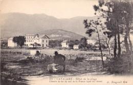 CPA CAVALAIRE - Hôtel De La Plage. Chemin De Fer Au Sud De La France Ligne Du Littoral. - Cavalaire-sur-Mer