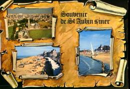 14 - Souvenir De Saint Aubin Sur Mer : Multi Vues - Saint Aubin