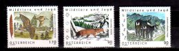 2012 / 2013 / 2014-  Austria -Wild Animals And Hunting -Waldschnepfe, Goats And Foxes  -all 3 Items -paper MNH** - 1945-.... 2de Republiek