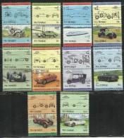 NUI TUVALU 1985 CARS HISTORY CAR AUTO STORIA AUTOMOBILI MNH - Tuvalu